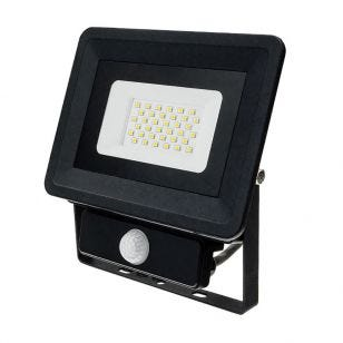 Value 30W Daylight LED Floodlight with PIR Sensor