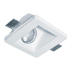 Edit Dalton Square Plaster-In Fixed Downlight - Angled