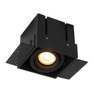 Lucide Trimless Square Adjustable Downlight - Black