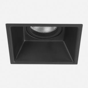 Astro Minima Deep Recessed Square Fixed Downlight - Black