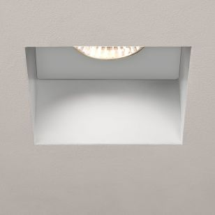 Astro Trimless Square Fire Rated Fixed Downlight - Matt White