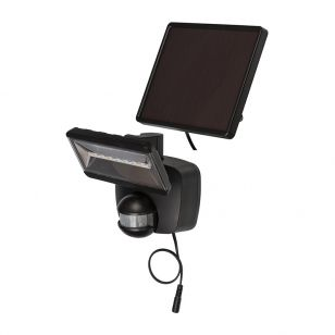 Brennenstuhl LED Solar Floodlight with PIR Sensor - Black