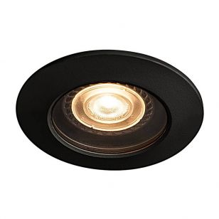 SLV Varu IP65 Soffit Recessed Fixed Downlight - Black