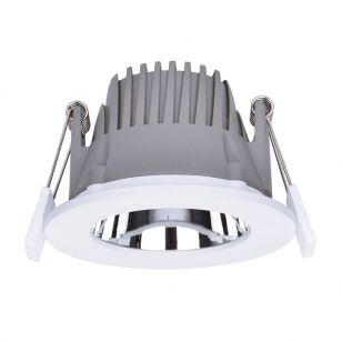 Integral Recess Pro 6W Cool White Dimmable LED Low Glare Fixed Downlight - 75mm