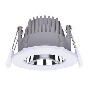Integral Recess Pro 10W Cool White Dimmable LED Low Glare Fixed Downlight - 90mm