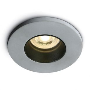 Concrete Fixed Downlight with Black Reflector