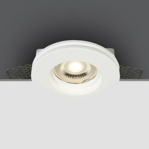 Gypsum Plaster-In Fixed Downlight - White