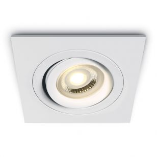 Bay Square Adjustable Downlight - White