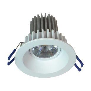 Round Recessed 8W Warm White LED Fixed Downlight - White