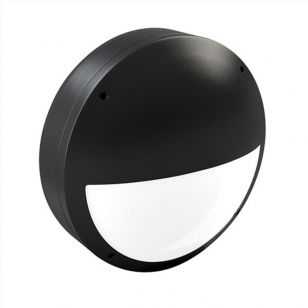 Alum 18W Daylight LED Outdoor Wall Light - Eyelid - Black