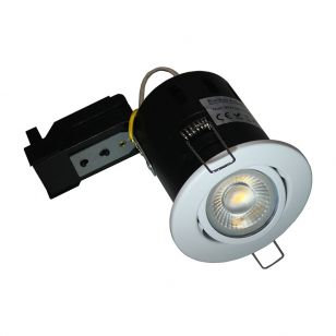 Evolve Fire Rated Adjustable Downlight - White