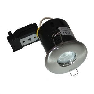 Evolve Fire Rated IP65 Fixed Downlight - Satin Nickel