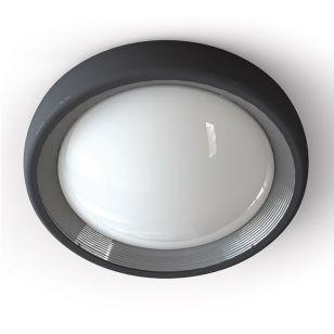 Edit 13W LED Coastal Outdoor Flush Light - Dark Grey