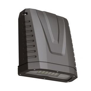Pro 80W Cool White LED Wall Pack with Dusk to Dawn Sensor