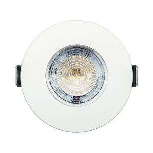 Integral Evofire+ 3.8W Cool White Dimmable LED Fire Rated Fixed Downlight - White