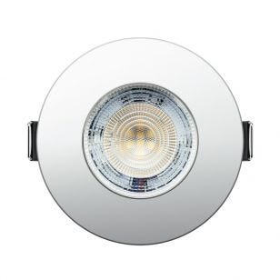Integral Evofire+ 3.8W Cool White Dimmable LED Fire Rated Fixed Downlight - Polished Chrome
