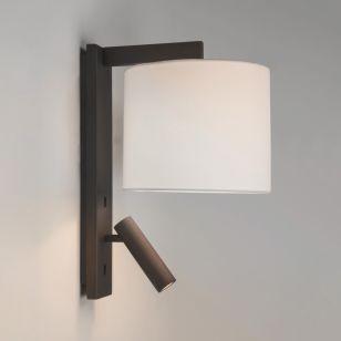 Astro Ravello Wall Light with LED Reading Light - Bronze
