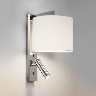 Astro Ravello Wall Light with LED Reading Light - Polished Chrome