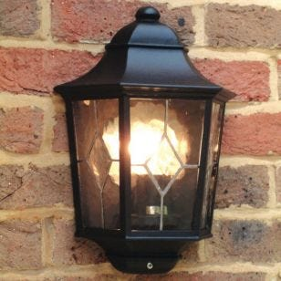 Elstead Norfolk Half Lantern Outdoor Wall Light - Large