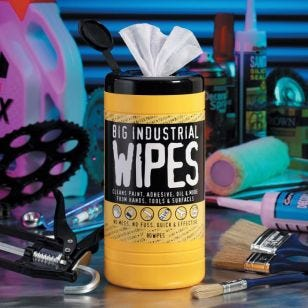 Big Industrial Wipes - Tub of 80