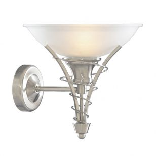 Searchlight Linea Wall Light - Satin Silver
