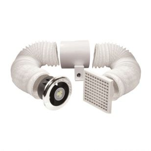 "Vent-A-Light 4"" Extractor Fan with Timer"
