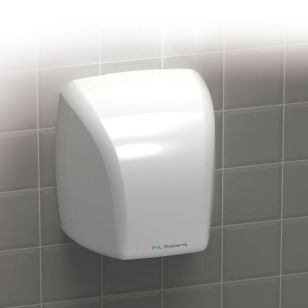 2.1kW Hand Dryer - White ABS Plastic