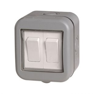 Outdoor 2 Gang 2 Way Switch - IP55