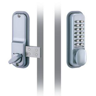 Digital Door Lock Surface Mounted - Silver Grey
