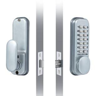 Digital Door Lock - Silver Grey