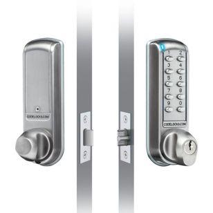Electronic Door Lock - Brushed Steel