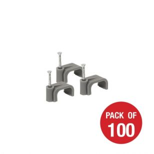 CED Grey Cable Clips - 1.5mm - Pack of 100