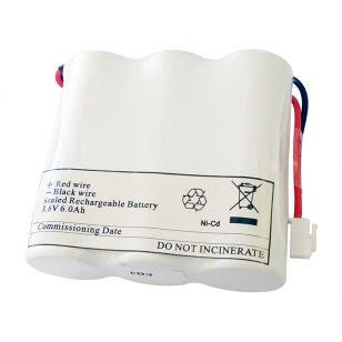 Eterna Ni-Cd 3.6V 6Ah Side-by-side Emergency Replacement Battery