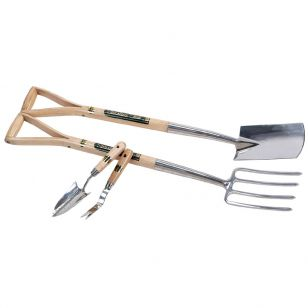 Stainless Steel Fork, Spade, Hand Trowel and Weeder