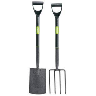 Carbon Steel Fork and Spade Set