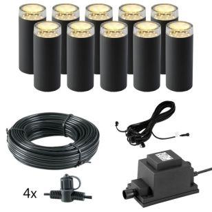 Techmar Plug and Play - Linum LED Post Light Kit - 10 Lights