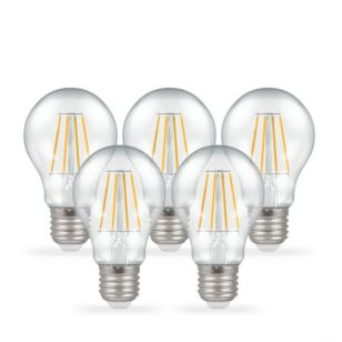 Crompton 5W Warm White Dimmable LED Decorative Filament GLS Bulb - Screw Cap - Pack of 5