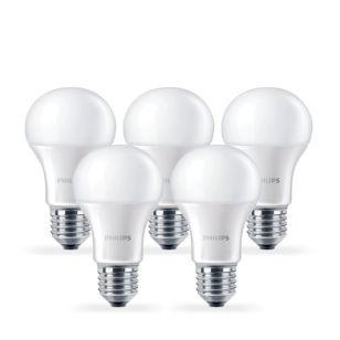 Philips 13W Corepro Warm White LED GLS Bulb - Screw Cap - Pack of 5