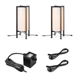 Garden 24V Frame LED Outdoor Floor Lamp - 2 Lights