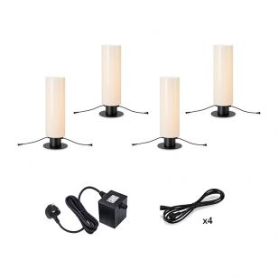 Garden 24V Cylinder 70 LED Outdoor Floor Lamp - 4 Lights
