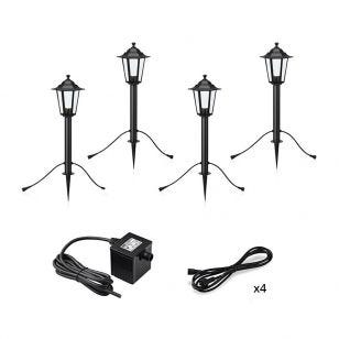Garden 24V Coach Lantern LED Outdoor Post Light - 4 Lights