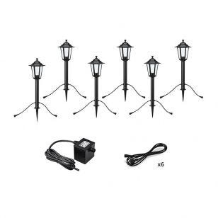 Garden 24V Coach Lantern LED Outdoor Post Light - 6 Lights