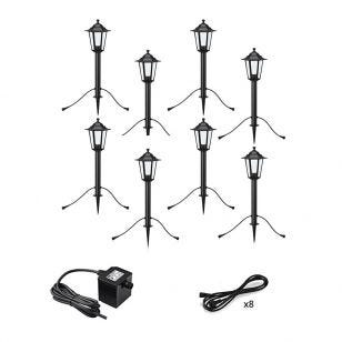 Garden 24V Coach Lantern LED Outdoor Post Light - 8 Lights