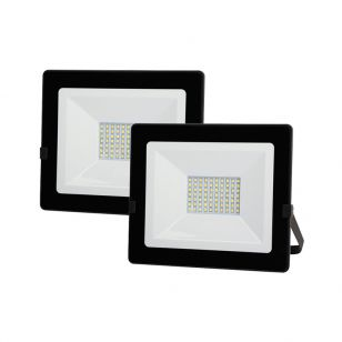 Lyco 50W Cool White LED Floodlight - Pack of 2