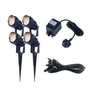 EasyFit 12v Garden Lights - Palm LED Garden Spotlight Kit - 4 Lights