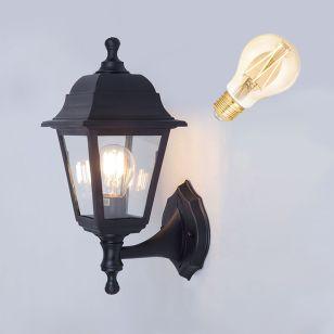 Edit Coastal Sennen  6.5W Warm White LED Smart WiFi Outdoor Lantern Wall Light - Black