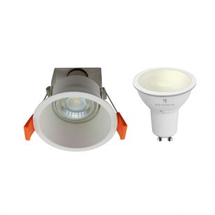 Edit Deep 5.5W Warm White LED Smart WiFi Recessed Fixed Downlight - White