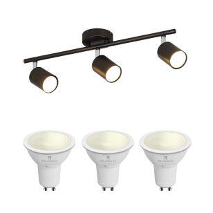 Edit Whitstable 5.5W Warm White LED Smart WiFi 3 Light Spotlight Bar - Bronze