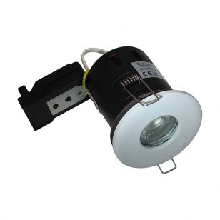 Evolve 5W Warm White Dimmable LED Fire Rated IP65 Fixed Downlight  - White