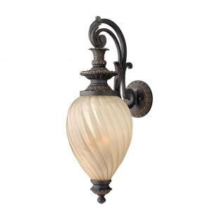 Hinkley Montreal Grande Outdoor Lantern Wall Light - Aged Iron